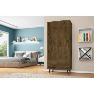 modern and wardrobe d mirror with manhattan hanging products century armoire mid shelves comfort draweres rod liberty
