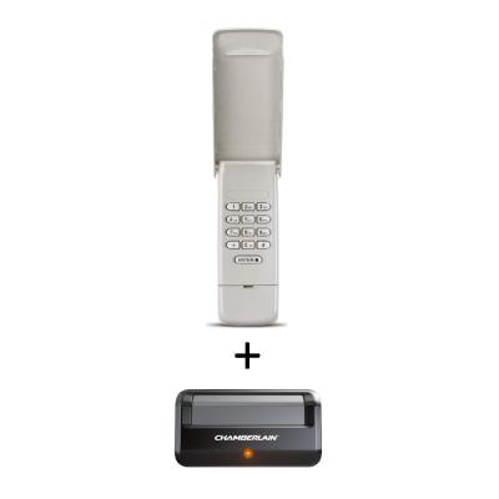 Garage Door Keypad + Single Button Garage Door Opener Remote