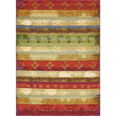 Outdoor Traditional Multi 8' 0 x 11' 4 Area Rug
