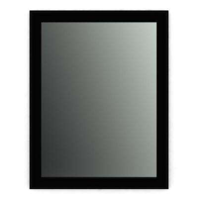 21 in. x 28 in. (S1) Rectangular Framed Mirror with Standard Glass and Easy-Cleat Flush Mount Hardware in Matte Black