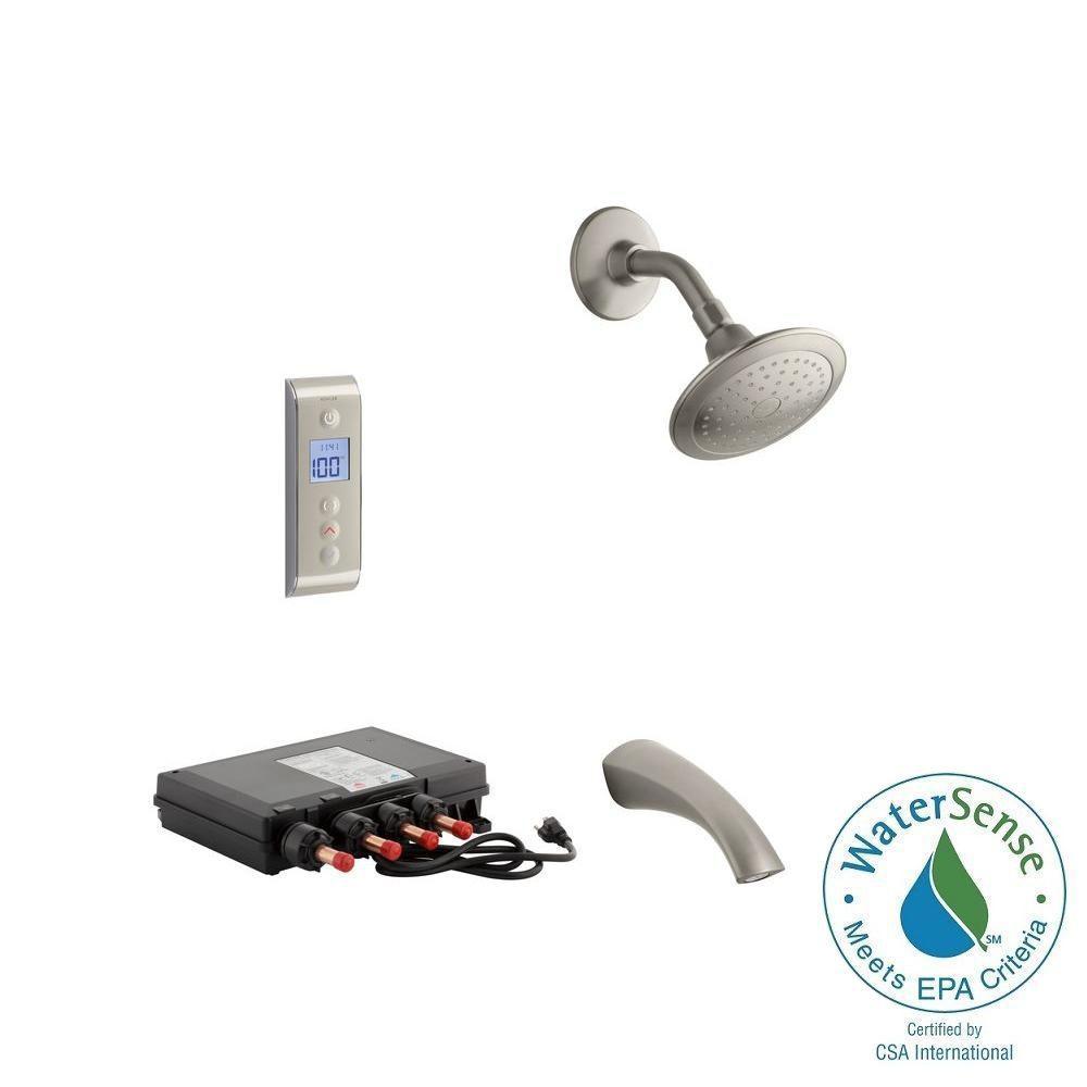 KOHLER Mistos DTV Prompt 2.0 GPM Tub and Shower Set in Brushed Nickel