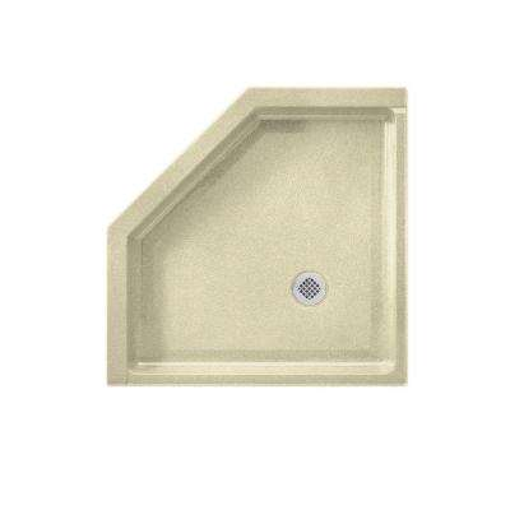 Neo Angle 36 in. x 36 in. Veritek Shower Floor in Bone