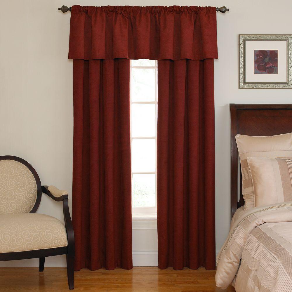 Sound Asleep National Sleep Foundation Room Darkening Sangria Polyester Rod pocket/Back tab Curtain Panel (Price Varies by Size)