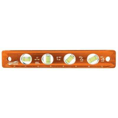 9 in. Aluminum Magnetic Torpedo Level