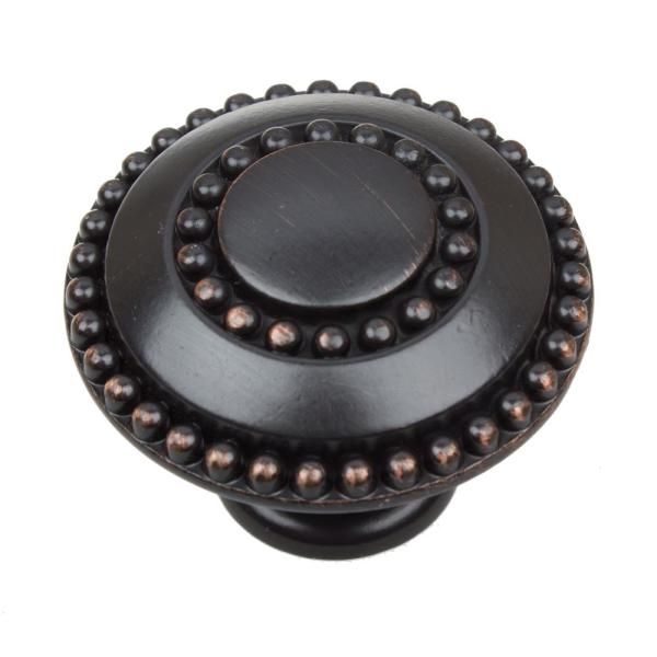 1-3/8 in. Dia Oil Rubbed Bronze Round Celtic Medallion Cabinet Knob (10-Pack)