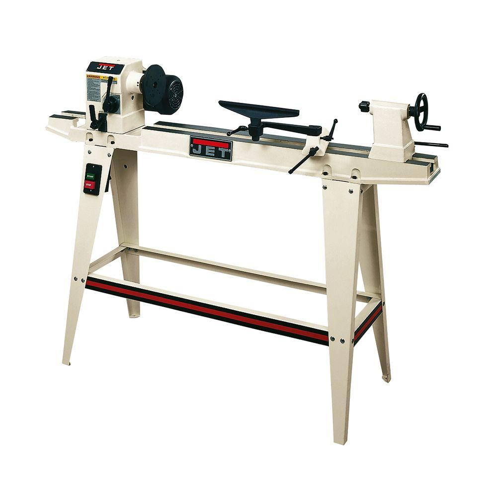 12 in. x 36 in. Variable Speed Woodworking Lathe with Legs