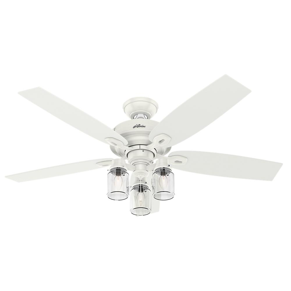 Crown Canyon 52 in. Indoor Fresh White Ceiling Fan