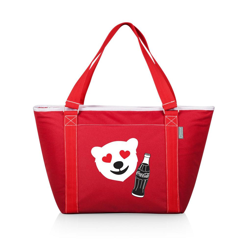 Picnic Time Coca-Cola Topanga Cooler Tote with Emoji Design Red 619-00-100-919-0