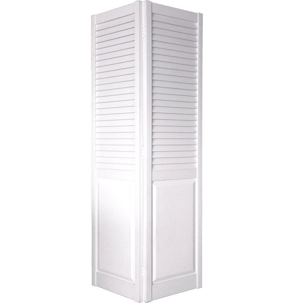 30 In. X 80 In. 2 In. Louver/Panel White Composite Interior