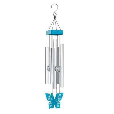 Precision-Tuned Butterfly Wind Chime - Teal