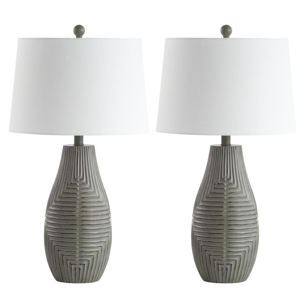 Safavieh Jairo 27.5 in. Faux Wood Table Lamp (Set of 2)