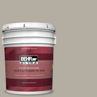 5 gal. #PPU18-13 Perfect Taupe Matte Interior Paint and Primer in One