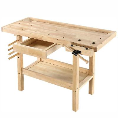 50 in. x 20 in. 330 lbs. Hardwood Workbench with Built-In Wooden Vise