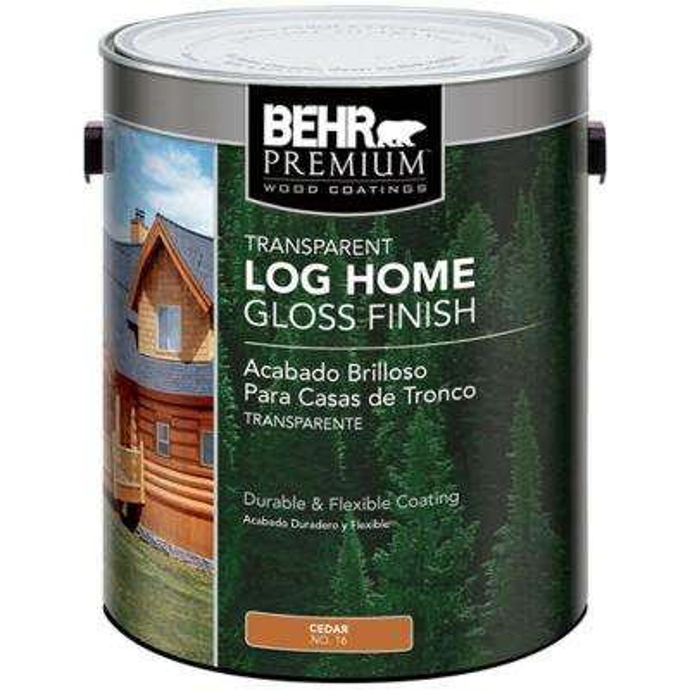 1 gal. Cedar Clear Gloss Finish Log Home