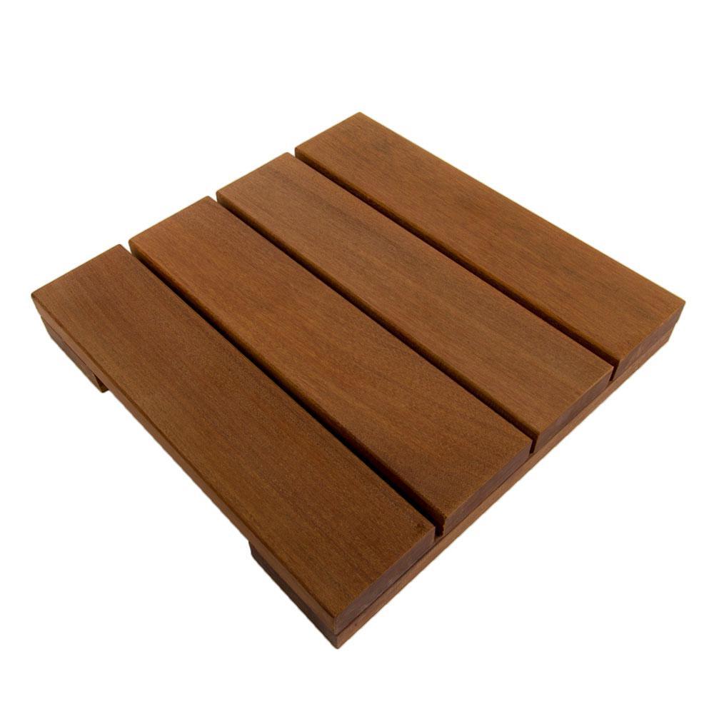 WiseTile 1 ft. x 1 ft. Solid Hardwood Deck Tile in Exotic Ipe (4 per case)