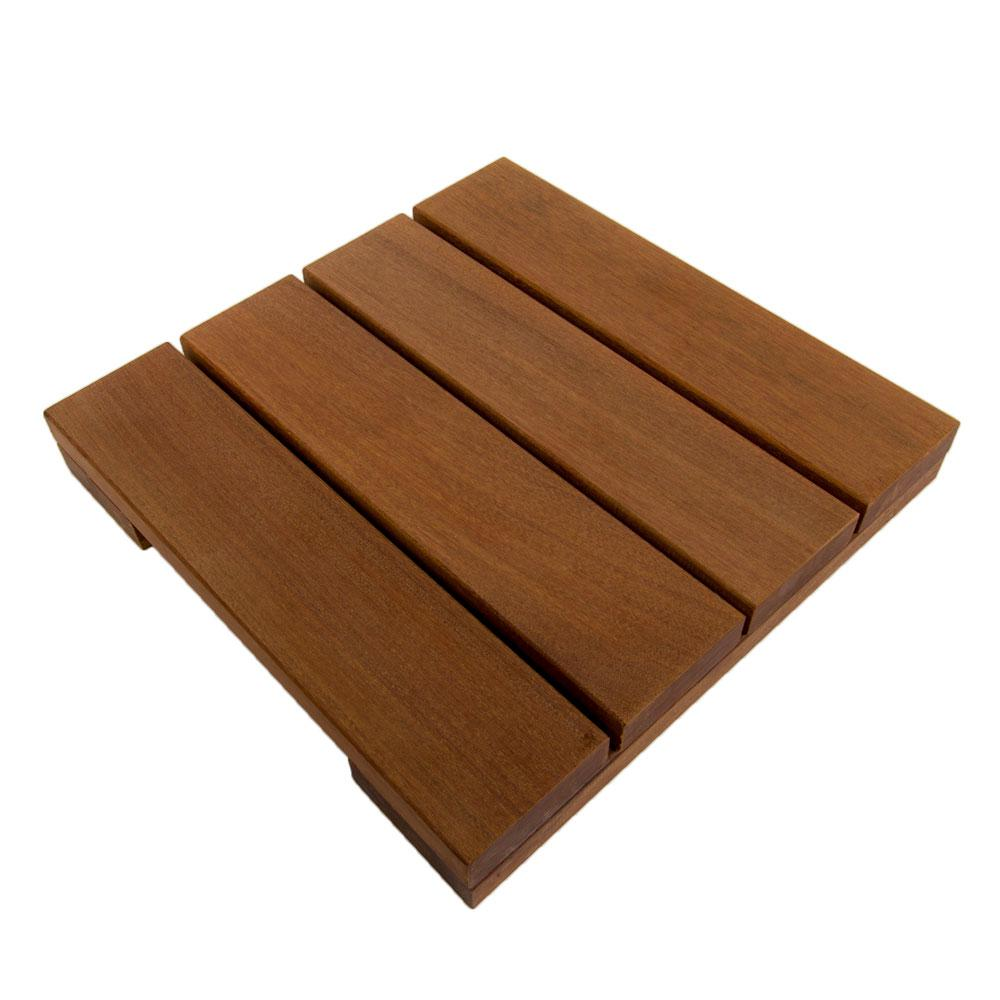 WiseTile 1 ft. x 1 ft. Solid Hardwood Deck Tile in