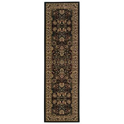 Westminster Black 3 ft. x 9 ft. Runner Rug