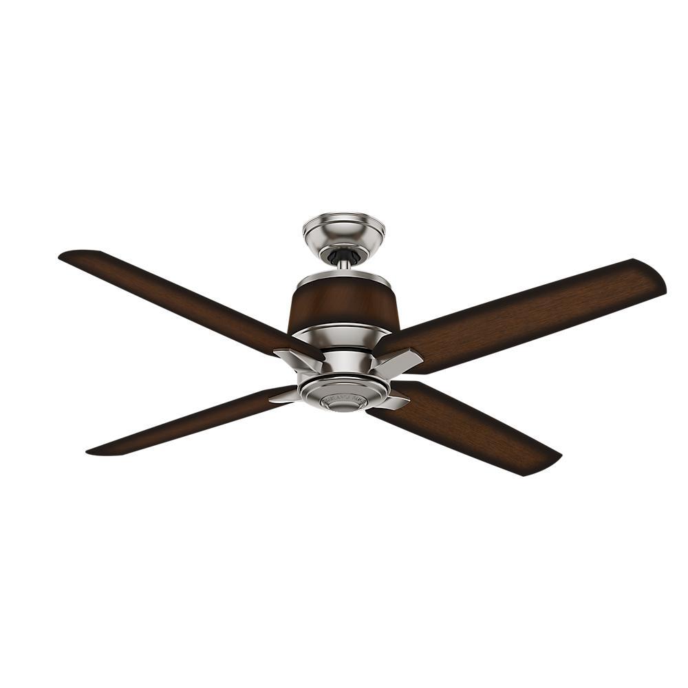 Casablanca Aris 54 in. Indoor/Outdoor Brushed Nickel Ceiling Fan ...