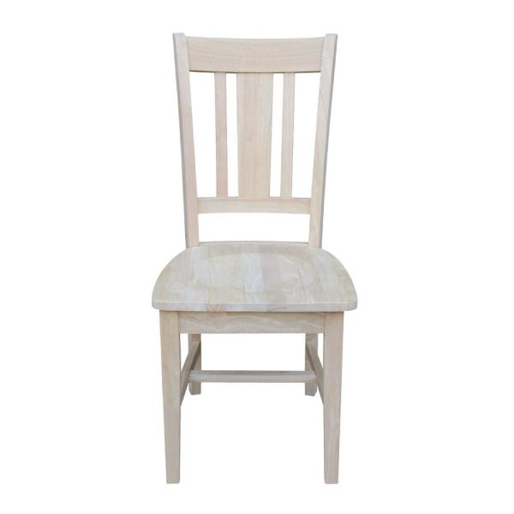 International Concepts San Remo Unfinished Wood Slat Back Dining Chair (Set of 2)