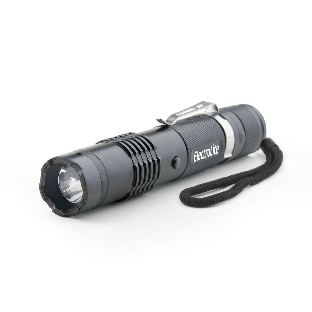 ElectroLite 140 Lumen Compact Tactical Flashlight with Maximum Voltage Stun Gun and Belt Clip