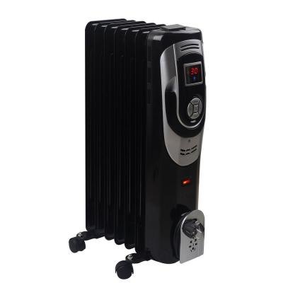 1500-Watt Digital 7-Fins Electric Oil Filled Radiator Space Heater with Timer