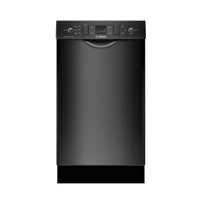 300 Series 18 in. ADA Compact Front Control Dishwasher in Black with Stainless Steel Tub, 46dBA