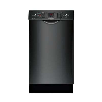 300 Series 18 in. Compact Front Control Tall Tub Dishwasher in Black with Stainless Steel Tub, 46dBA