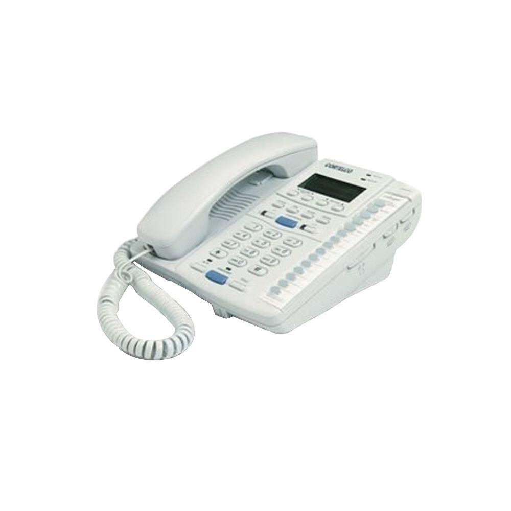 Cortelco Colleague 2-Line Enhanced Corded Telephone - Frost