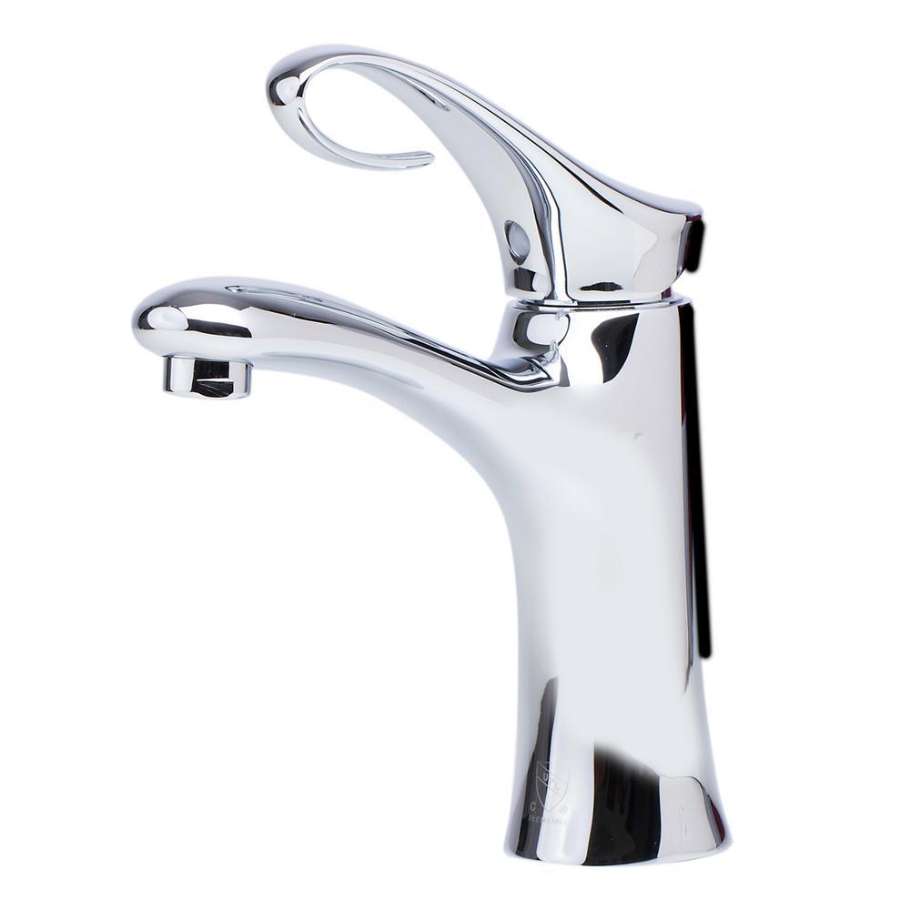 AB1295-PC Single Hole Single-Handle Bathroom Faucet in Polished Chrome