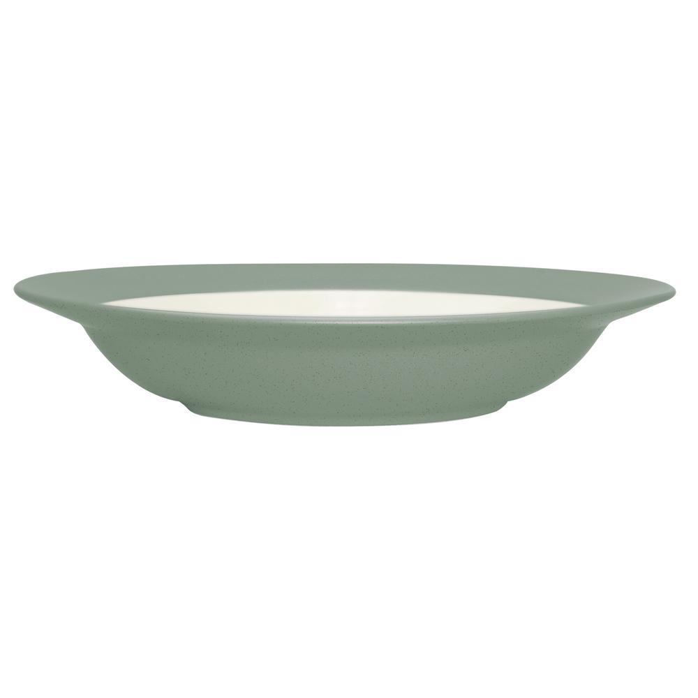 Noritake Colorwave 20 oz. Green Pasta/Rim Soup Bowl 8485-607