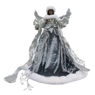 18 in. Ethnic Silver Angel Christmas Tree Topper