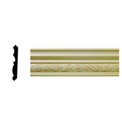 1/2 in. x 3-3/4 in. x 96 in. Hardwood White Unfinished Clean Scroll Crown Moulding