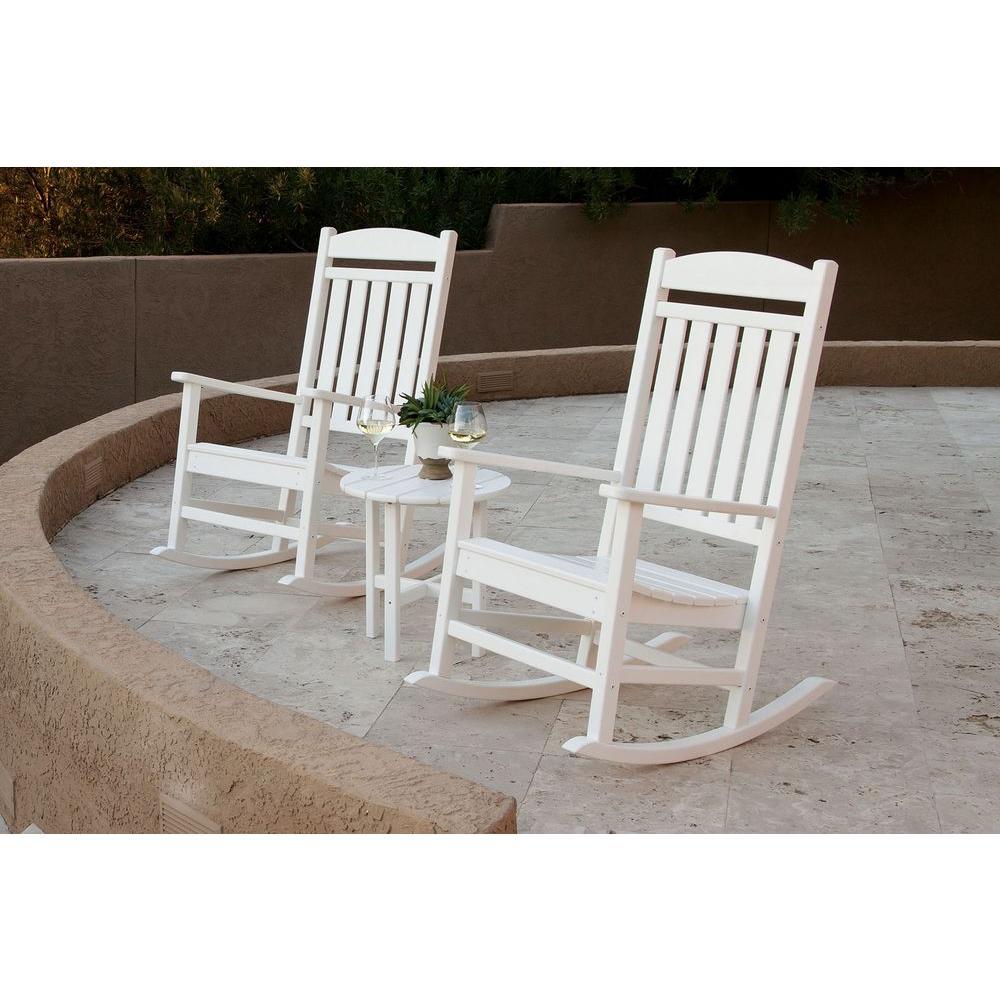 Ivy Terrace Classics White 3-Piece Patio Rocker Set