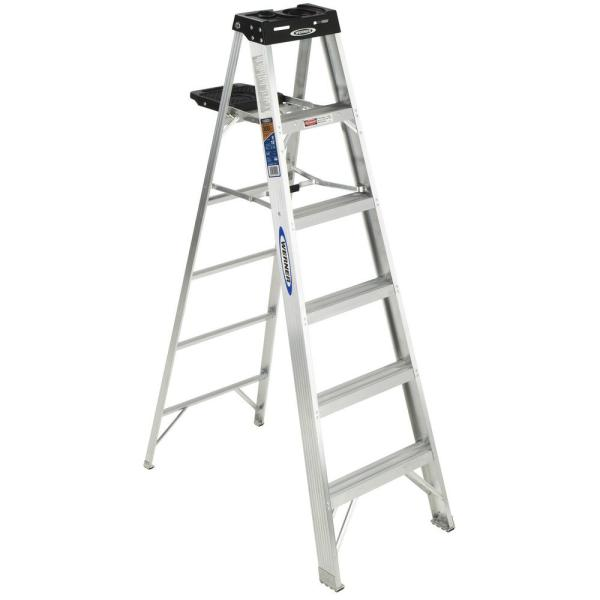 6 ft. Aluminum Step Ladder with 300 lbs. Load Capacity Type IA Duty Rating