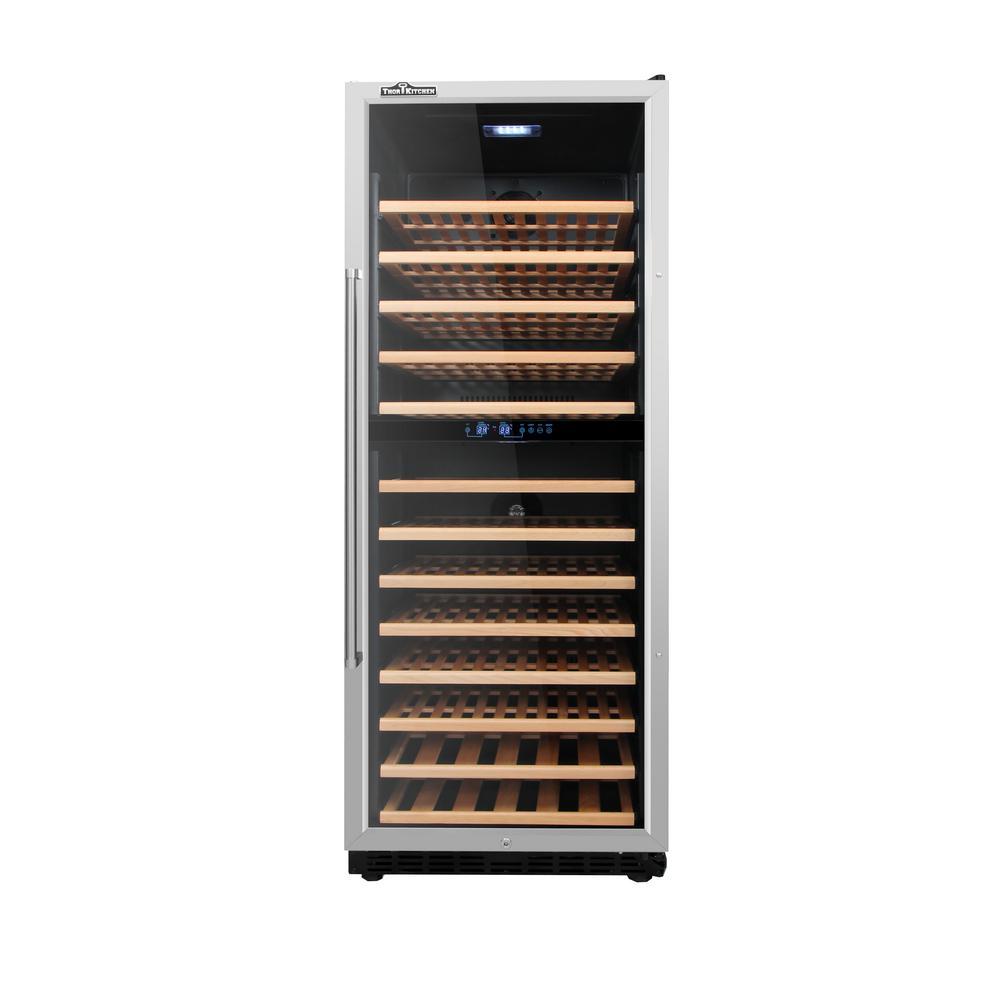24 in. Wide 133-Bottle Freestanding Dual Zone Wine Cooler