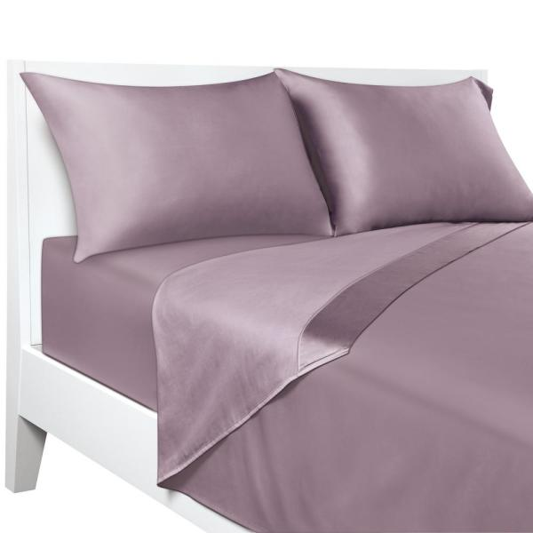 Sealy EvenTemp Temperature Regulating Deep-Pocket Lilac King Sheet