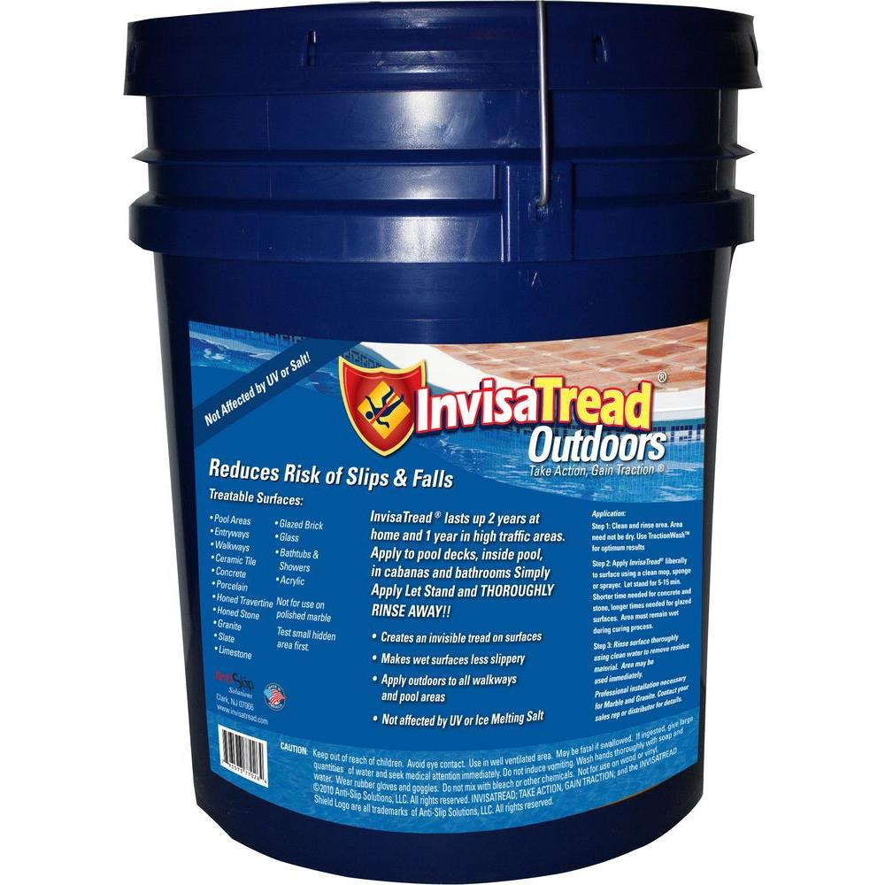 InvisaTread 5 Gal. Outdoors Slip Resistant Treatment for Tile and Stone