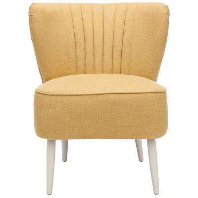 Morgan Gold Cotton Blend Accent Chair