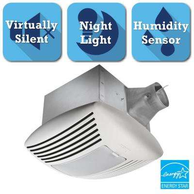 Signature G2 Series 110 CFM Ceiling Exhaust Bath Fan with Adjustable Humidity Sensor and Night-Light