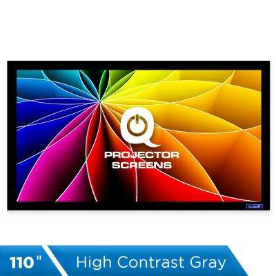 Fixed Frame Projector Screen - 16:9, 110 in. High Contrast Gray 0.9 Gain