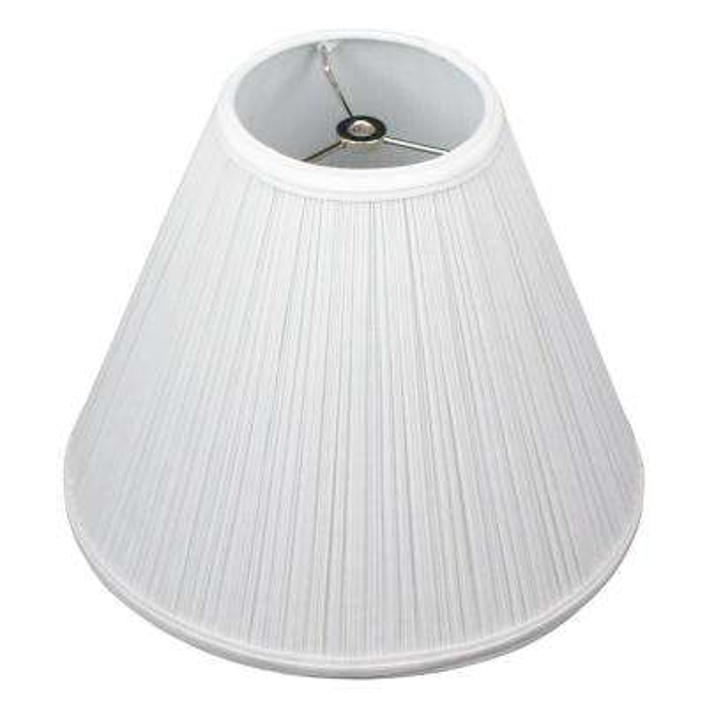"Fenchel Shades 5"" Top Diameter x 12"" Bottom Diameter x 10"" Slant,  Coolie Lamp Shade - Pleated Mushroom White"