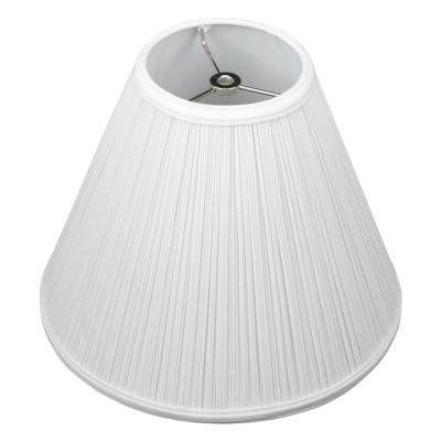 5 in. Top Diameter x 12 in. Bottom Diameter x 10 in. Slant Pleated Mushroom White Coolie Lamp Shade