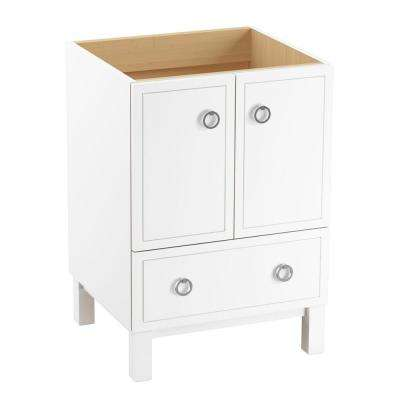 Jacquard 24 in. Vanity Cabinet in Linen White with Chrome Hardware