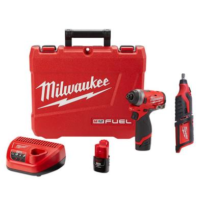 M12 FUEL 12-Volt Lithium-Ion Brushless Cordless 1/4 in. Hex Impact Driver Kit with Free M12 Rotary Tool