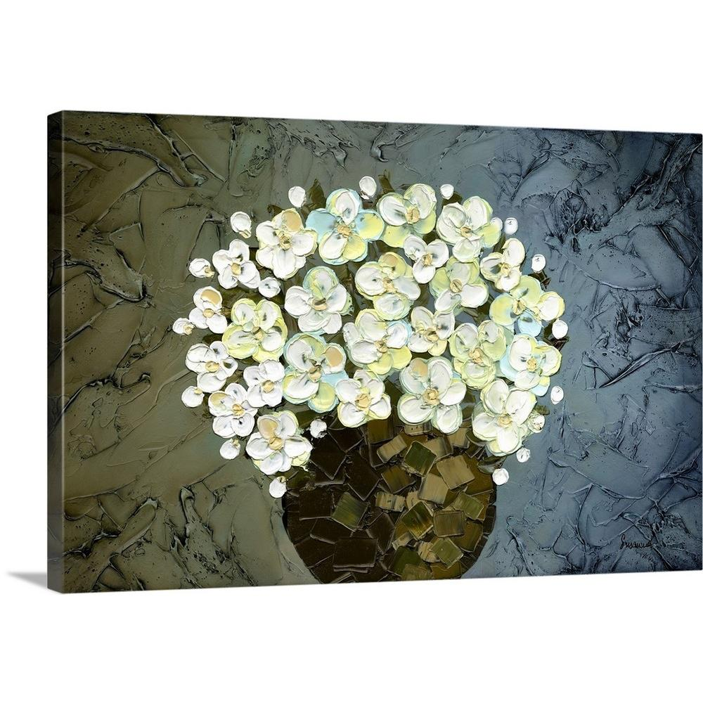 """White Flowers"" by Susanna Shaposhnikova Canvas Wall Art"