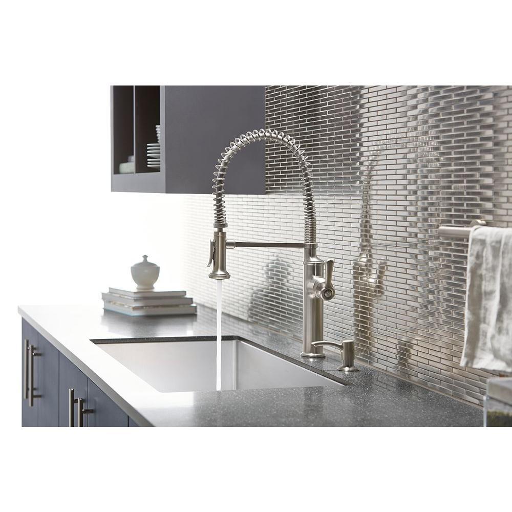 NEW! KOHLER Sous Pro-Style Single-Handle Pull-Down Sprayer Kitchen Faucet