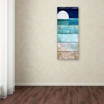 """32 in. x 14 in. """"Beach Moonrise I"""" by Color Bakery Printed Canvas Wall Art"""