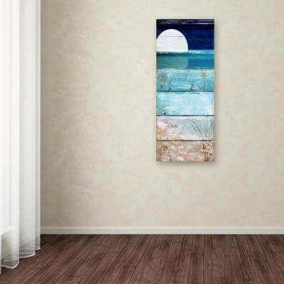 "24 in. x 10 in. ""Beach Moonrise I"" by Color Bakery Printed Canvas Wall Art"