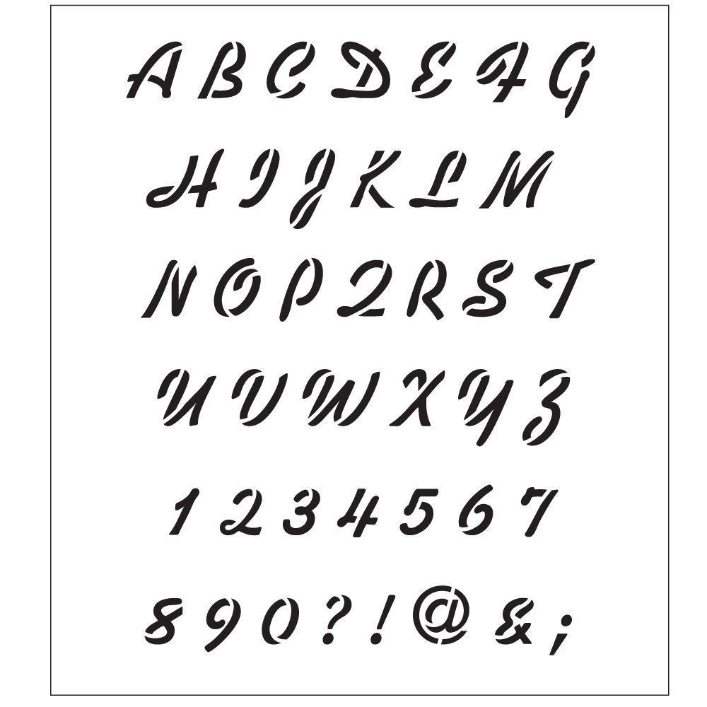 Alphabet Breezy Script Laser Painting Stencils