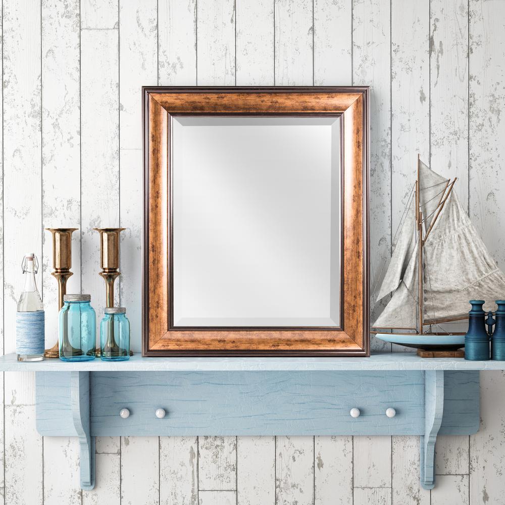 Crystal Art Gallery Hartley Rectangular Bronze Vanity Mirror